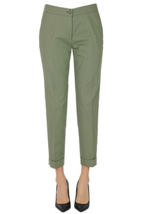 Cotton cigatette trousers Etro