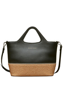 Rafia and leather shopping bag Brunello Cucinelli