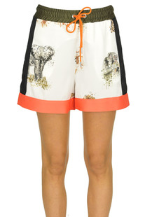 Printed satin shorts Pinko