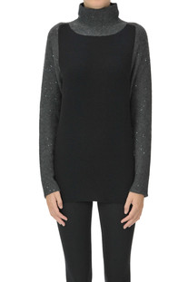 Turtleneck pullover with sequins Fabiana Filippi