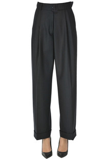 Pinstriped wool trousers Dries Van Noten