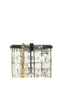 Printed leather clutch Zanchetti