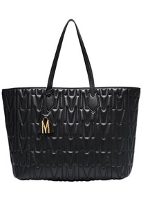 Quilted leather shopping bag Moschino Couture