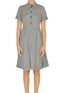 Vichy print shirt dress Calvin Klein