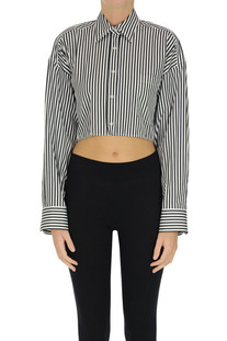 Striped cropped shirt Ermanno Scervino