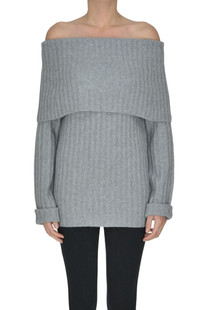 Ribbed trims cashmere pullover Theory