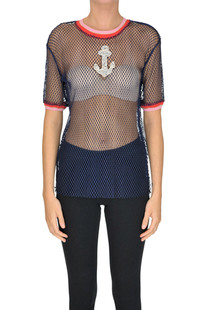 Cut-out fabric top Pinko