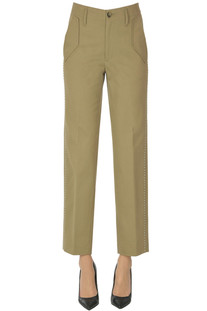 Studded cotton trousers Golden Goose Deluxe Brand