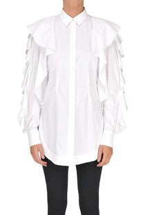 Ruched cotton shirt Sara Battaglia