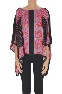 Printed satin blouse 1 One