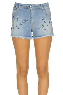 Embellished denim shorts Ermanno by Ermanno Scervino