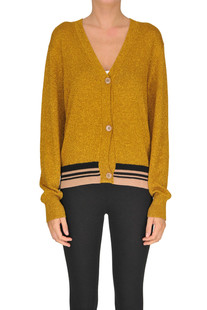 Lurex knit cardigan Dries Van Noten