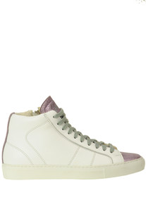 High top leather sneakers P448