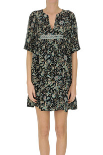Flower print viscose mini dress Ba&sh