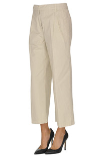 Cropped cotton trousers Aspesi