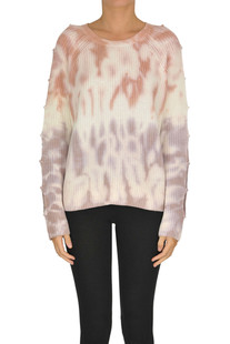 Tie dye print pullover 360 Sweater