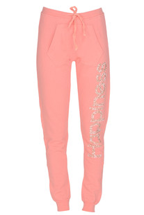 Studded designer logo fleece trousers Happiness