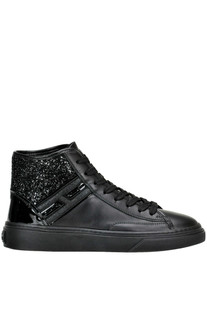 High-top leather sneakers Hogan