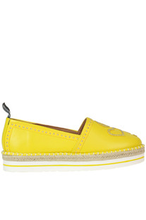 Studded eco-leather espadrillas Love Moschino