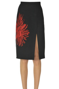 Embroidered pencil skirt N.21