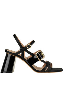 Patent-leather and satin sandals Marni