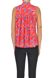 Printed cotton blouse MSGM