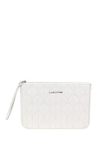 Quilted leather clutch Lancaster