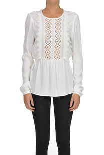 online retailer 8160f 2d489 Viscose-blouse with lace