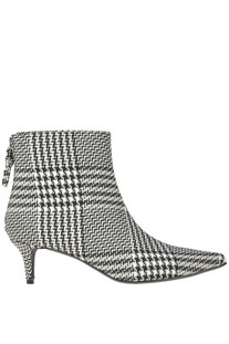 Houndstooth print fabric ankle-boots Kendall+Kylie