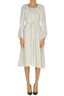 Checked print cotton dress Aspesi