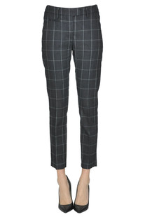 Perfect checked print trousers Dondup