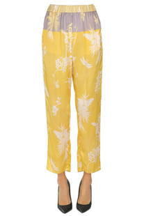 Printed satin trousers Forte_Forte