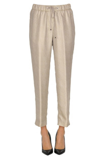 Printed satin trousers Argonne