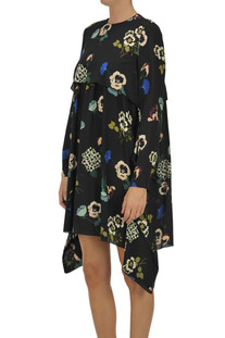 Flower print silk dress RED Valentino