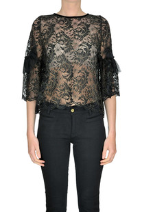 Lace top with lurex Aniye By