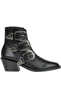 Leather texan ankle-boots Marc Ellis