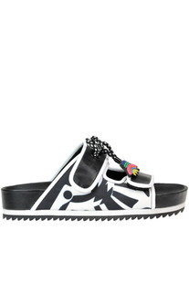 Leather and neoprene slides Kat Maconie