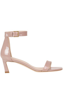 'Square Nudist' patent-leather sandals Stuart Weitzman