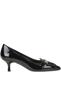Fringed patent-leather pumps Tod's