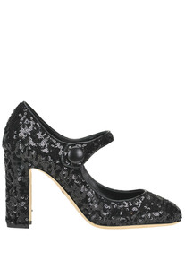Vally sequined Mary Jane pumps Dolce e Gabbana