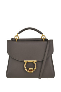 Gancini leather handbag Salvatore Ferragamo