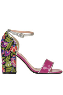 Patent-leather sandals Pollini