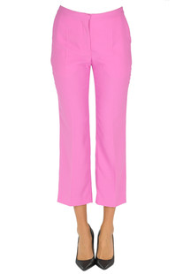 Cropped crepè trousers Mulberry