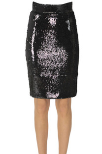 Sequined pencil skirt Dondup