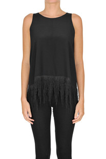 Fringed silk top Forte_Forte