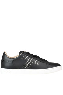 'Cassetta' studded leather sneakers Tod's