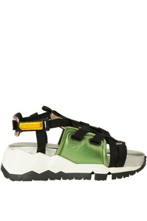 Metallic effect leathers sport sandals Pierre Hardy