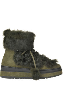 Winter suede ankle-boots with fur Altraofficina