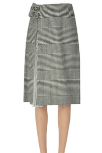 Hound's-tooth print wool-blend skirt Ermanno Scervino