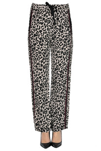 Animal print crepè trousers N.21
